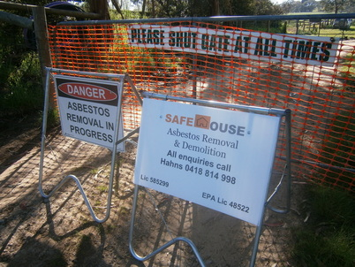 Asbestos removal in progress in Mount Barker